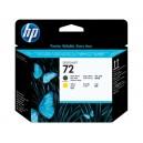 Cap Imprimare HP 72 (C9384A) ORIGINAL, Negru mat/Galben