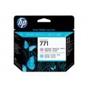 Cap Imprimare HP 771 (CE019A) ORIGINAL, Magenta deschis/Cian deschis