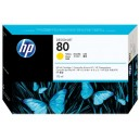 Cartus HP 80 (C4873A) ORIGINAL, Galben