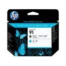 Cap Imprimare HP 91 (C9460A) ORIGINAL, Negru mat/Cian