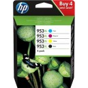Pachet 4 Cartuse HP 953XL CMYK ORIGINALE (3HZ52AE), Capacitate mare