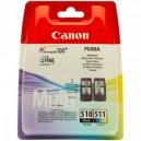Pachet Cartuse Canon PG-510 + CL-511, ORIGINALE